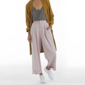 Pants - Ali Golden Front Pleat Pants in Lilac